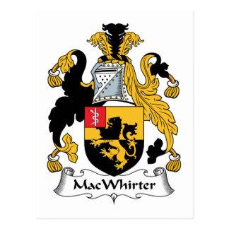 Escudo de la familia de MacWhirter Postal