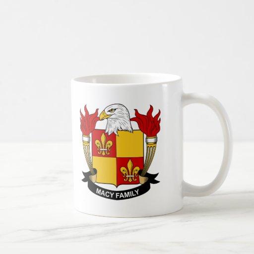 Escudo de la familia de Macy Taza De Café