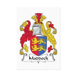 Escudo de la familia de Maddock Impresión De Lienzo