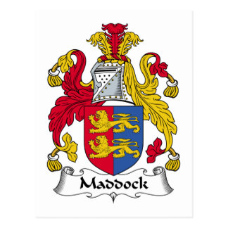 Escudo de la familia de Maddock Postal