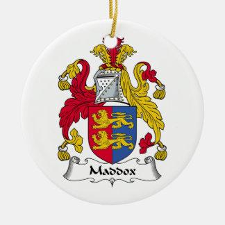 Escudo de la familia de Maddox Adorno De Navidad