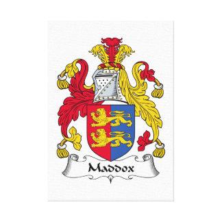 Escudo de la familia de Maddox Impresión De Lienzo