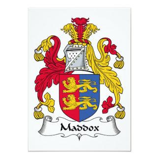 Escudo de la familia de Maddox Invitacion Personalizada