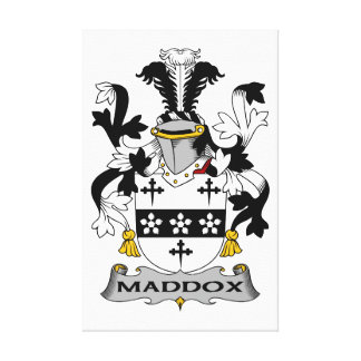 Escudo de la familia de Maddox Impresiones En Lona