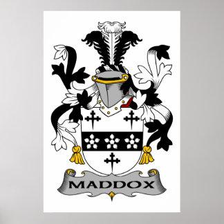 Escudo de la familia de Maddox Impresiones