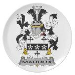 Escudo de la familia de Maddox Plato De Cena