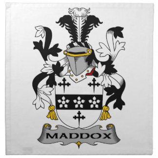 Escudo de la familia de Maddox Servilleta Imprimida