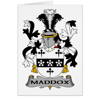 Escudo de la familia de Maddox Felicitacion
