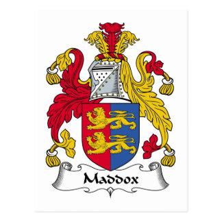 Escudo de la familia de Maddox Postales
