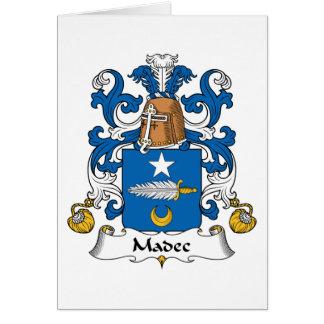 Escudo de la familia de Madec Tarjeta De Felicitación