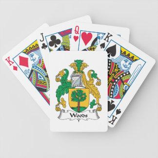 Escudo de la familia de maderas barajas de cartas