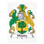 Escudo de la familia de maderas invitación personalizada