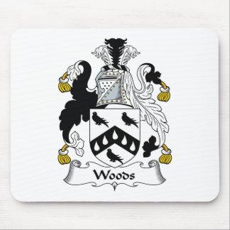 Escudo de la familia de maderas mouse pads