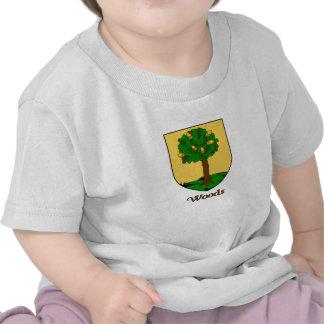 Escudo de la familia de maderas camisetas