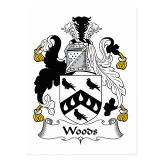 Escudo de la familia de maderas postales