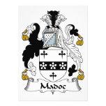 Escudo de la familia de Madoc Invitaciones Personales