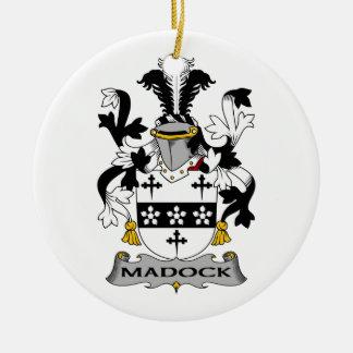 Escudo de la familia de Madock Adorno Redondo De Cerámica