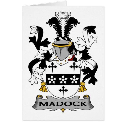 Escudo de la familia de Madock Tarjetón
