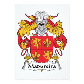 """Escudo de la familia de Madureira Invitación 5"""" X 7"""""""