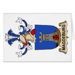 Escudo de la familia de Magdeburgo Felicitacion