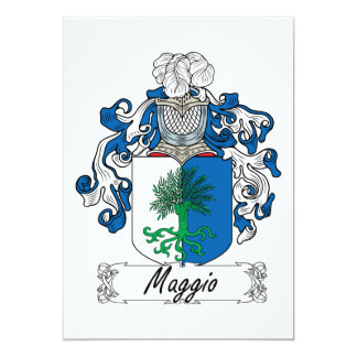 """Escudo de la familia de Maggio Invitación 5"""" X 7"""""""