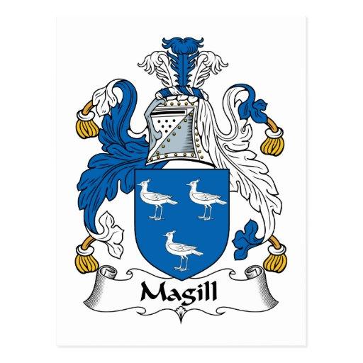 Escudo de la familia de Magill Tarjeta Postal