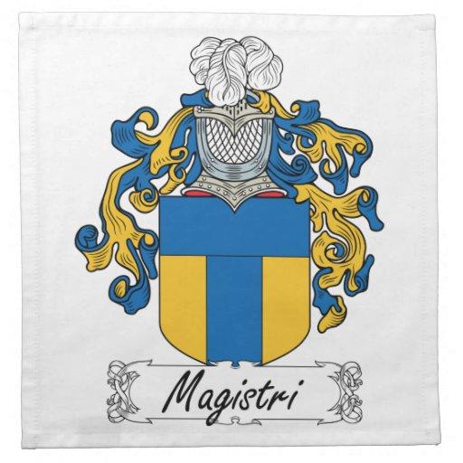 Escudo de la familia de Magistri Servilletas