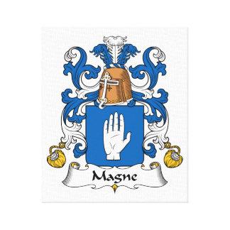 Escudo de la familia de Magne Impresiones De Lienzo