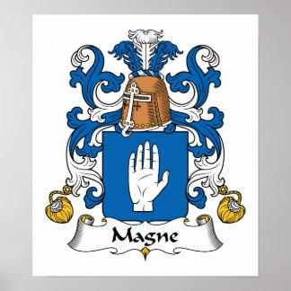 Escudo de la familia de Magne Posters