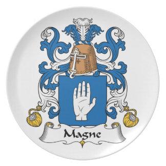 Escudo de la familia de Magne Plato De Comida