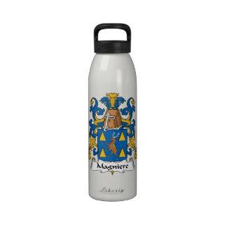 Escudo de la familia de Magniere Botellas De Beber