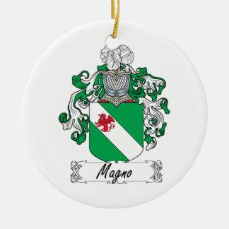 Escudo de la familia de Magno Adornos De Navidad