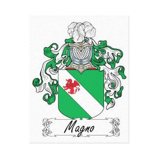 Escudo de la familia de Magno Impresión En Lienzo Estirada