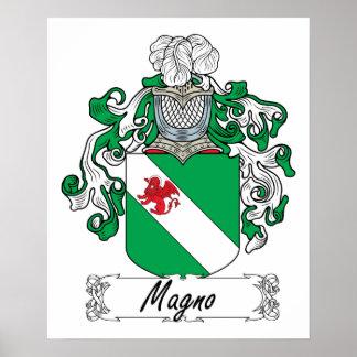 Escudo de la familia de Magno Poster