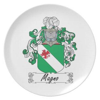 Escudo de la familia de Magno Plato De Cena