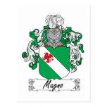 Escudo de la familia de Magno Tarjeta Postal