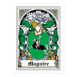 Escudo de la familia de Maguire Postal