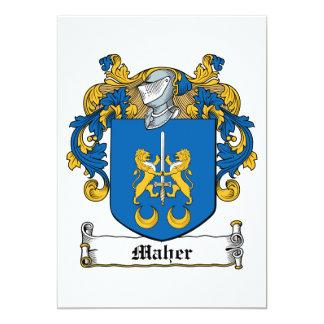"""Escudo de la familia de Maher Invitación 5"""" X 7"""""""