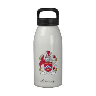 Escudo de la familia de Mahew Botellas De Agua Reutilizables