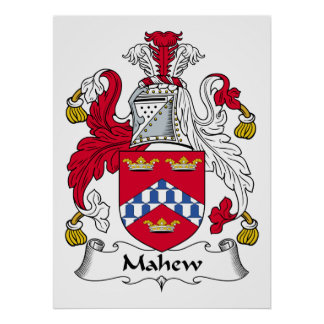 Escudo de la familia de Mahew Impresiones