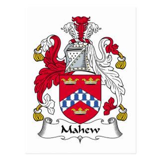 Escudo de la familia de Mahew Tarjetas Postales