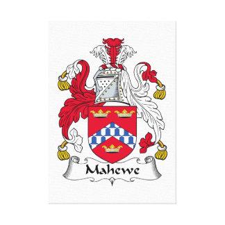 Escudo de la familia de Mahewe Impresión En Lona Estirada
