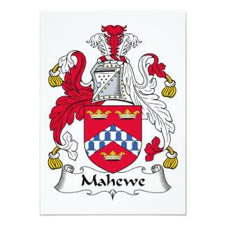 """Escudo de la familia de Mahewe Invitación 5"""" X 7"""""""
