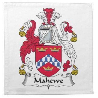 Escudo de la familia de Mahewe Servilletas