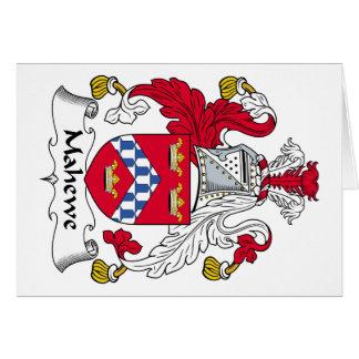 Escudo de la familia de Mahewe Tarjeta De Felicitación