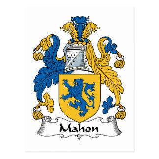 Escudo de la familia de Mahon Postal