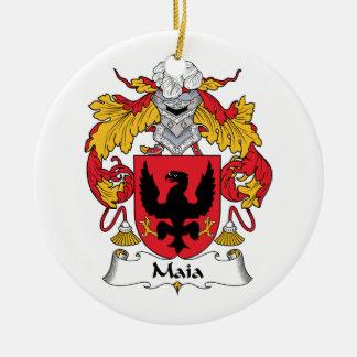 Escudo de la familia de Maia Adorno Redondo De Cerámica