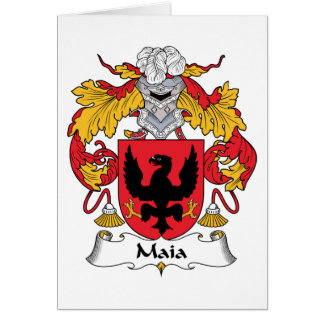 Escudo de la familia de Maia Tarjeta De Felicitación