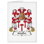 Escudo de la familia de Maillet Felicitación
