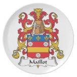 Escudo de la familia de Maillot Platos Para Fiestas